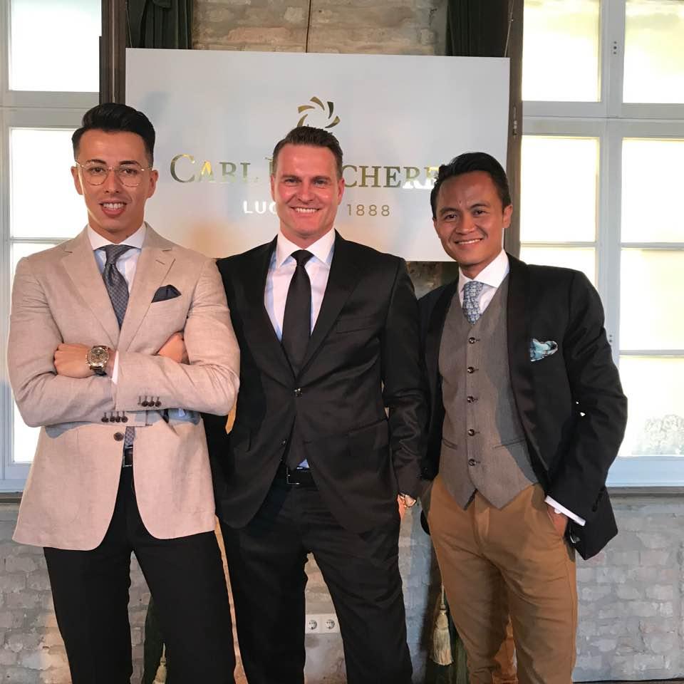 Blake Scott (New York fashion Influencer), Sascha Moeri (CEO of Carl F. Bucherer) & Chronondo