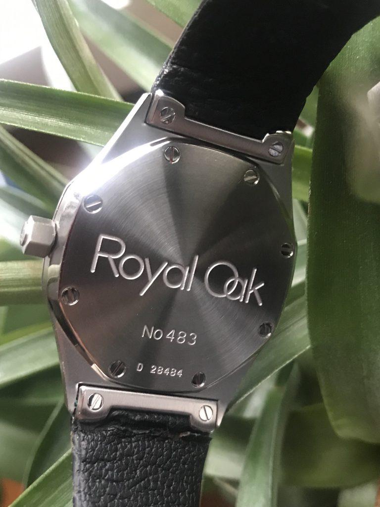 Der Stahlboden der Royal Oak Automatic 36 mm