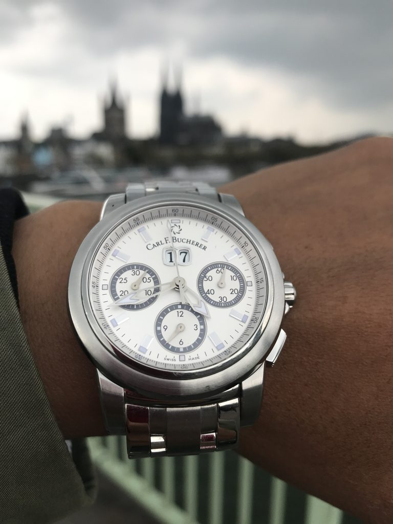 Wearing the Patravi Chronograph Big Date Carl F Bucherer