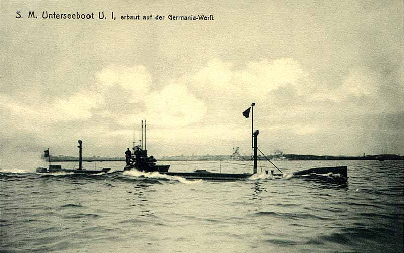 U-Boot U1 - Quelle: Unbekannt - pre-war [Wikipedia]